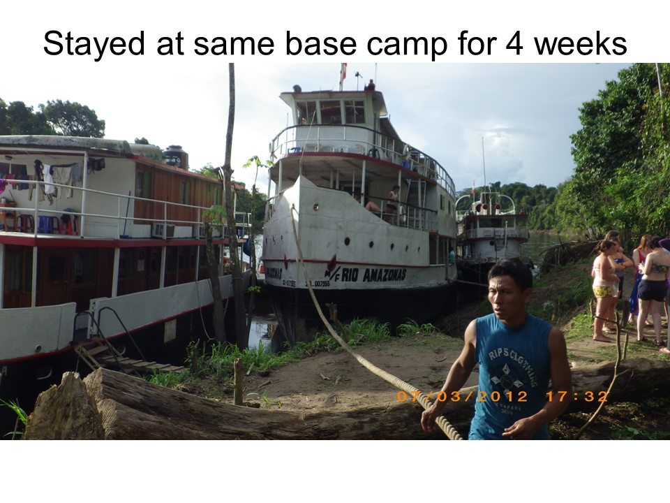 Base Camp on the R/V Rio Amazonas
