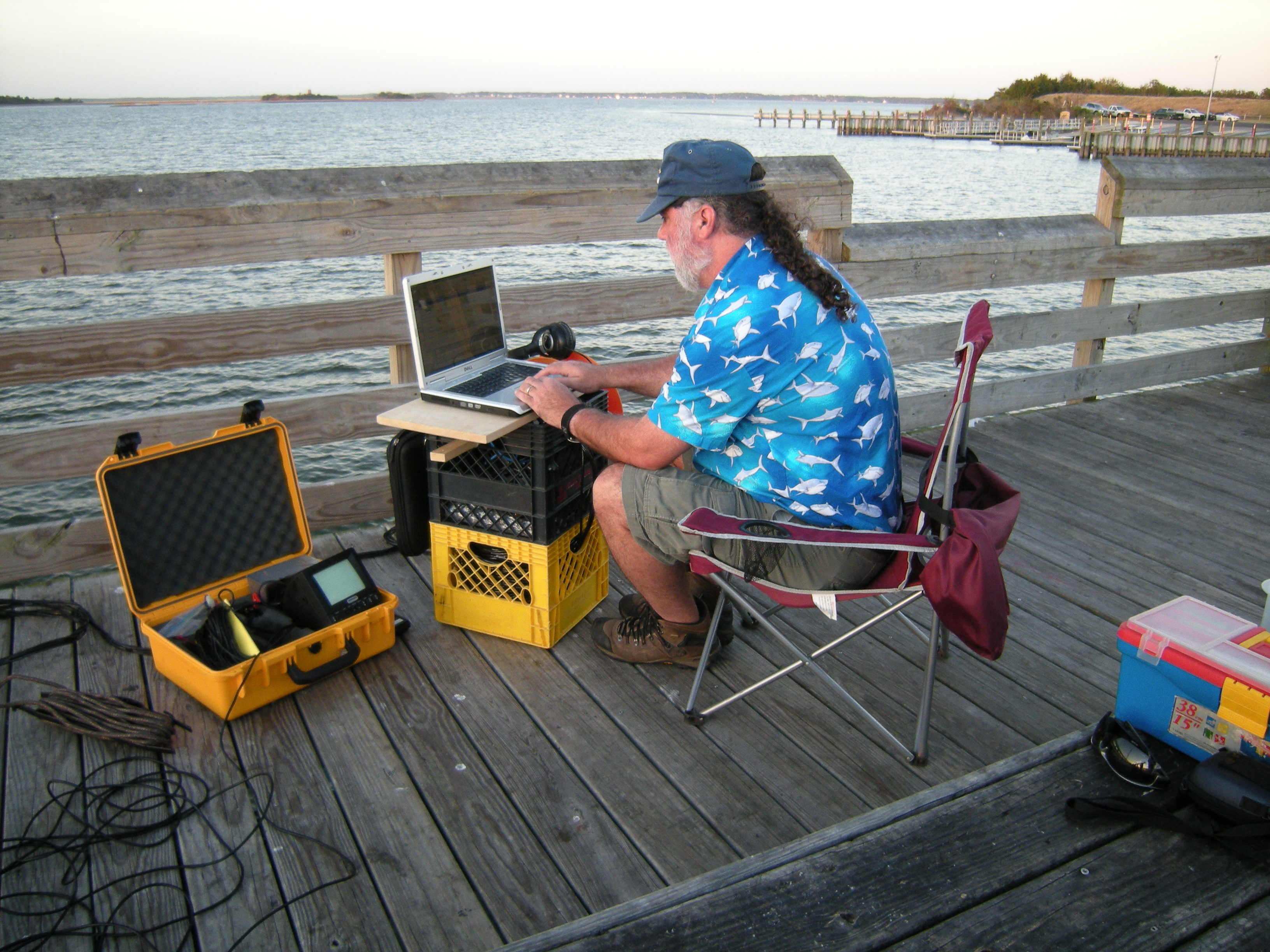 Rountree recording sounds in Beaufort, NC