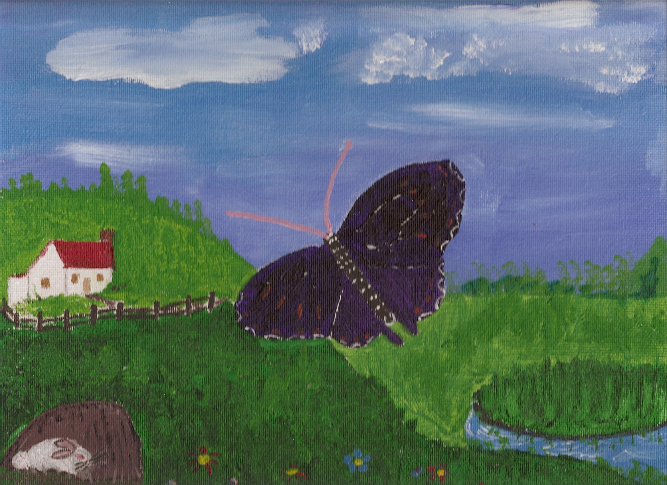 Giant Purple Butterfly